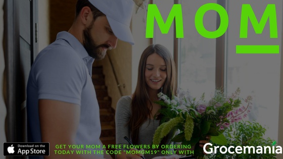 Mother's Day Gift Idea, Free Flowers with Every Delivery Today