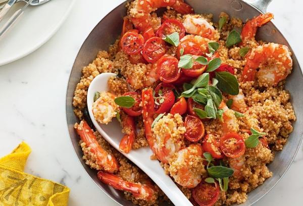 Quinoa Risotto with Prawns