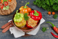 Meat-and-Rice Stuffed Peppers