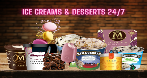 Ice Cream & Desserts 24/7 Bramall