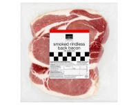 Grocery Delivery London - Smoked Rindless Back Bacon 375g same day delivery