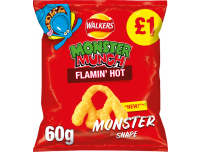 Grocery Delivery London - Walkers Monster Munch Flamin Hot 60g same day delivery