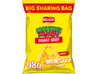 Grocery Delivery London - Walkers Monster Munch Roast Beef 98g same day delivery