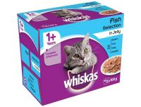 Grocery Delivery London - Whiskas Simply Cat Food Pouch Steamed Fish in Jelly 12x85g same day delivery