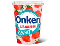 Grocery Delivery London - Onken Fat Free Strawberry Flavour Yoghurt 450g same day delivery