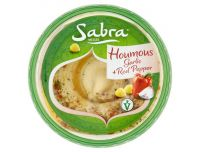 Grocery Delivery London - Sabra Houmous Garlic and Red Pepper 250g same day delivery
