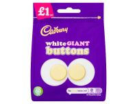 Cadbury White Chocolate Giant Buttons Chocolate Pouch 95g