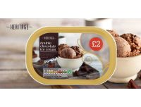 Grocery Delivery London - Heritage Double Chocolate Ice Cream 900ml same day delivery