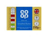 Grocery Delivery London - Co-Op Unsalted Butter 250g same day delivery