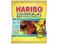 Haribo Fruitilicious 30% Reduced Sugar Sweets Pouch 120g
