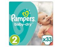 Grocery Delivery London - Pampers Baby Dry Size 2 Essential Pack 33 Nappies same day delivery