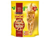 Grocery Delivery London - Go Cat Crunchy And Tender Beef & Chicken 800g same day delivery
