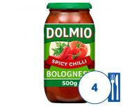 Grocery Delivery London - Dolmio Bolognese Intense Chilli Pasta Sauce 500g same day delivery