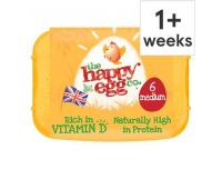 Grocery Delivery London - Happy Eggs Medium 6pk same day delivery