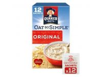 Grocery Delivery London - Quaker Oat So Simple Original Porridge 12 X27g same day delivery