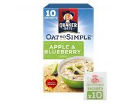 Grocery Delivery London - Quaker Oat So Simple Golden Syrup Porridge 10 X36g same day delivery