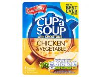 Grocery Delivery London - Batchelors Cup A Soup Chicken And Vegetable Croutons 4 Pack 110g same day delivery