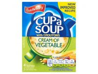 Grocery Delivery London - Batchelors Cup A Soup Cream Of Vegetable Croutons 4 Pack 122g same day delivery