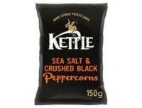 Kettle Chips Sea Salt & Pepper Sharing Crisps 150g