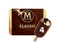 Grocery Delivery London - Magnum Classic Vanilla & Milk Chocolate Stick 110ml X4 same day delivery