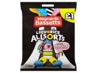 Maynards Liquorice Allsorts Sweets Pouch 165g