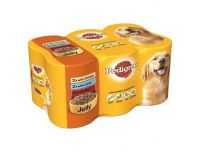 Grocery Delivery London - Pedigree Pouch Chicken, beef and Lamb in jelly 6x385g Pack same day delivery