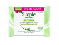Grocery Delivery London - Simple Kind To Skin Cleansing Facial Wipes 25'S 2 pk same day delivery