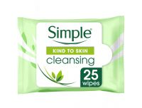 Grocery Delivery London - Simple Kind To Skin Cleansing Facial Wipes 25'S same day delivery