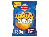 Grocery Delivery London - Walkers Wotsits Giants Cheese Snacks 130g same day delivery