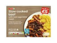 Spar Slow Cooked Beef With Root Vegetable Mash 450g