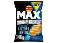 Walkers Double Crunch Cheese & Onion 140g