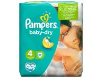 Grocery Delivery London - Pampers Baby Dry Size 4 Pack 25 same day delivery