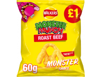 Grocery Delivery London - Walkers Monster Munch Roast Beef 60g same day delivery