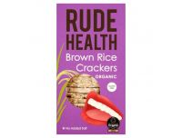 Grocery Delivery London - Rude Health Brown Rice Crackers 160g same day delivery