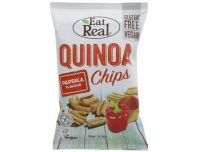 Grocery Delivery London - Eat Real Quinoa Chips - Gluten Free and Vegans - Paprika 80g same day delivery
